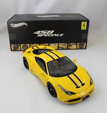 toy ferrari 458 mattel wheels the motorsport collector