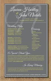 Wedding Ceremony Programs Diy One Page Wedding Ceremony Programs Pretty Header With Your Names