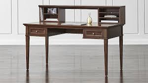 60 desk with hutch harrison cognac 60 desk with hutch desks crates and barrels