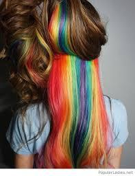 rainbow color hair ideas wonderful rainbow hair colors hidden in brown hair color i see