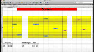 Movie Theater Floor Plan Movie Theater Ticket System With Excel Youtube