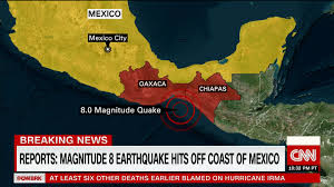 Map Of Mexico Coast by Strong Earthquake Hits Off Coast Of Mexico Cnn Video