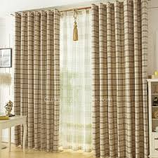 Yarn Curtains Cheapest Plaid Curtains Of Linen And Yarn Materials Of Drapes