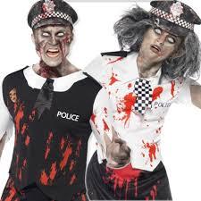 zombie police man or woman halloween mens ladies fancy dress