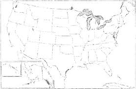 Usa Map Black And White by North America