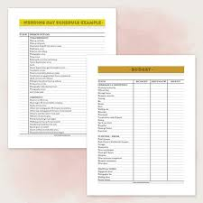 Wedding Day Planner Printable Wedding Planner Pdf