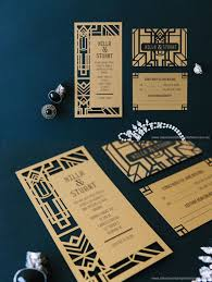 gatsby wedding invitations amour invitation archives amour