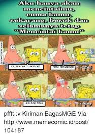 Meme Komik Spongebob - 25 best memes about indonesian language and spongebob