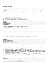 Examples Of Basic Resumes by Objectives Examples For Resume Free Resume Example And Writing