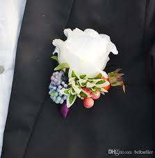 groomsmen boutonnieres 2015 new wedding dresses flowers real touch corsages handmade