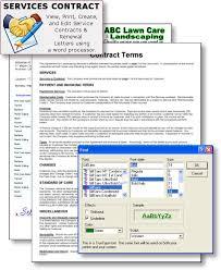 landscape software print u0026 email estimate contract forms