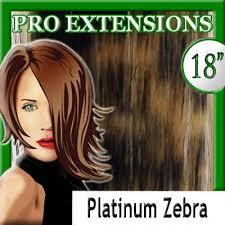 pro extensions ubo pro extensions 18 613 platinum zebra highlight