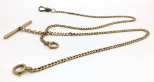watch chain necklace images C 1917 antique 14k gold 12 quot double albert pocket watch chain with jpg