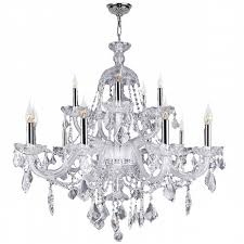 15 Light Chandelier Provence 15 Light Chrome Finish And Clear Crystal Chandelier Two 2