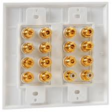 home theater wall plates pyle phiw71 7 1 home theater decora type speaker wall plate