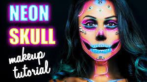 halloween make up tutorial neon skull shelingbeauty winactie