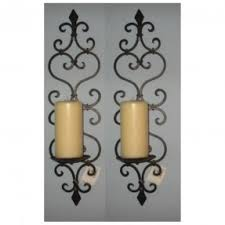 Large Candle Sconces For Wall Wall Sconces Candles Wrought Iron Foter