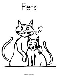 pets coloring page pets coloring page twisty noodle