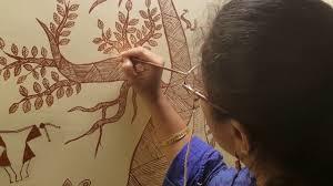 warli painting on wall warli painting drawing warli painiting