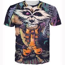t shirt organizer rocket raccoon t shirt harajuku punk t shirts vintage rock hip hop