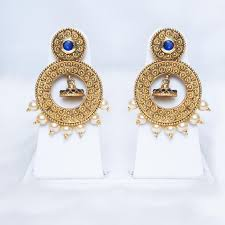 golden earrings and antique golden earrings with pearls