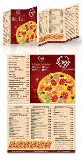 pizza menu restaurant menu pinterest
