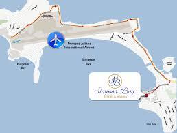 St Maarten Map St Maarten Resorts Simpson Bay Resort U0026 Marina