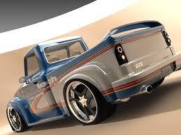 1954 ford f 100 design by vizualtech rear angle 1024x768 wallpaper
