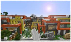 modern minecraft mansion