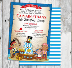 jake neverland pirate invitations jake