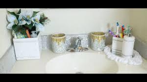 diy bathroom vanity makeover diamond wrap back splash youtube
