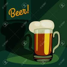 cartoon beer pint vintage pint of beer cartoon mug glass of beer template vector