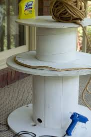 Wire Spool Table Diy Wire Spool Table Savvy Apron