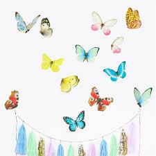 chocovenyl watercolour butterflies wall stickers