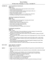 exle of a warehouse resume warehouse technician resume sles velvet