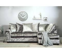 Chesterfield Velvet Sofa Crushed Velvet Corner Sofa Silver Grey Grey Velvet Sofa Grey