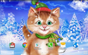 live halloween wallpapers for desktop winter cat live wallpaper android apps on google play