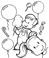 balloons to color coloring pages