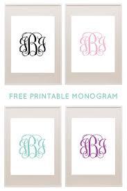 Create Monogram Initials Best 25 Free Printable Monogram Ideas On Pinterest Printable