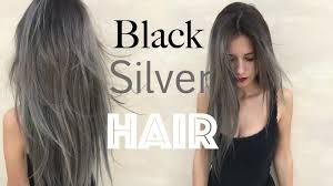 black grey hair how to black roots silver grey hair stella youtube