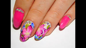 bright flowers top a beautiful and simple summer nail design youtube