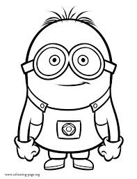 interesting minion coloring pages free minions coloring