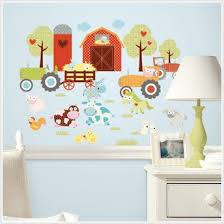 Buy Barnyard Farm Animals Train Nursery Wall Border Decals Kids - Kids rooms decals