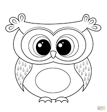 cartoon owl coloring page free printable coloring pages