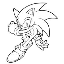 sonic hedgehog coloring pages eson