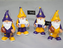 vikings gnome ornament 4 pack