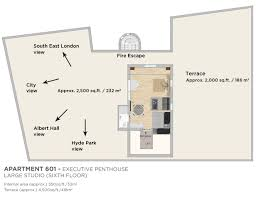 One Hyde Park Floor Plans Apartment 601 Penthouse Studio The Harrington Collection