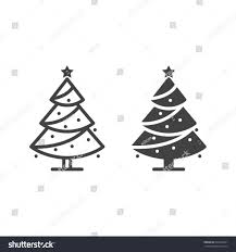 stock silhouette christmas tree outline vector graphic depicting
