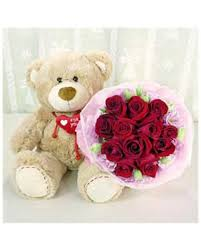 teddy delivery teddy with roses 408 stuffed delivery