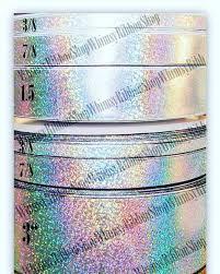 3 grosgrain ribbon 38 78 1 5 3 cheer ribbon laser foil shinny silver